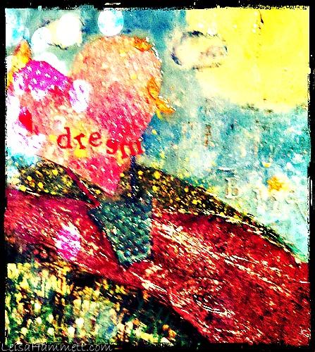 DreamBalloonCollagePaintg.photoDistortion.LeisaHammett.com